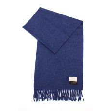 Alex Begg Lambswool Angora Solid Scarf 11098300801230: Blue