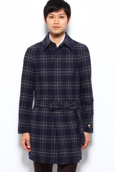 Wool Belted Coat 12020320000530: Navy