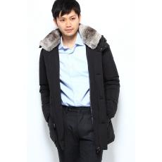Belted Down Jacket 12020320100030: Black