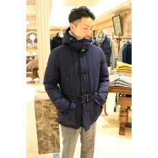 Belted Down Jacket 12020320100030: Navy