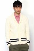 Edifice Cotton Shawl Collar Cricket Cardigan 12080312000610