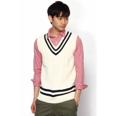 Edifice Cotton Cricket Vest 12080312000710: White